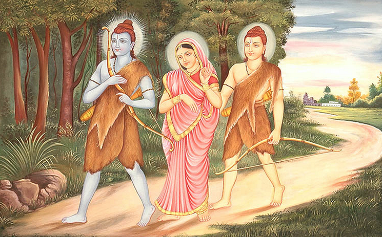 Rama at forest