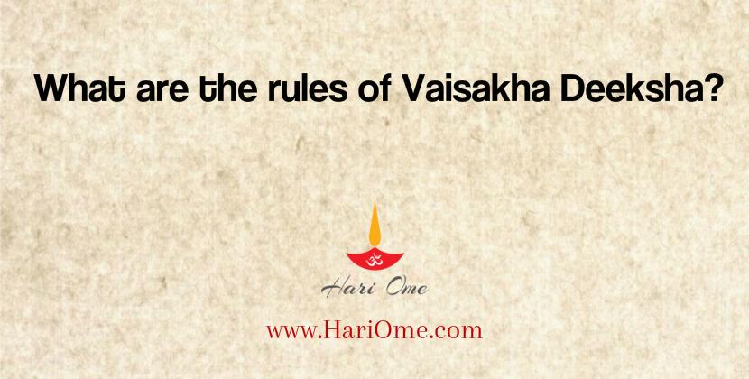 Vaisakha Deeksha