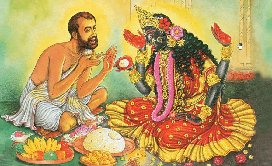 kali-with-ramakrishnar