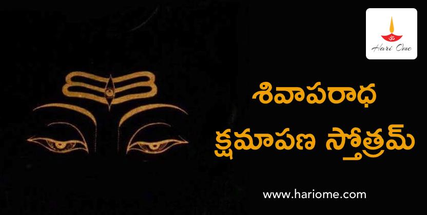 Shivaaparaadha Kshamaapana Stotram - శివాపరాధ క్షమాపణ స్తోత్రమ్