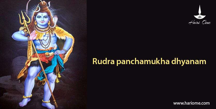 Rudra panchamukha dhyanam