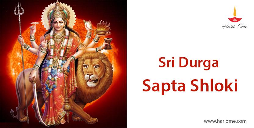 Sri Durga Sapta Shloki