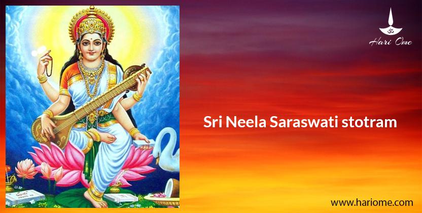 Sri Neela Saraswati stotram